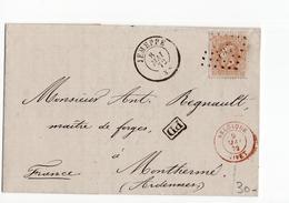 Jemeppe - Puntstempel 197   Givet - 1872 - Postmark Collection