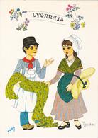 Cp -69-le Lyonnais--illustrateur Valerie Aslan-folklore De France - Andere Gemeenten