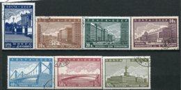 RUSSIE -  Yv N° 698 à 704 Complet     (o)   Nouveau Moscou Cote  25  Euro  TBE  2 Scans - 1923-1991 UdSSR