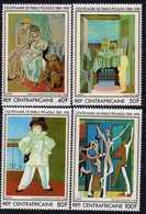 Centrafricaine N ° 483 / 86 XX :100è Anniversaire De La Naissance De Picasso, La Série Des 4 Valeurs Sans Charnière TB - Centrafricaine (République)