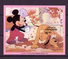 GRENADA-GRENADINES 1981  DISNEY-50 ANS DE PLUTO  YVERT N°B52  NEUF MNH** - Disney