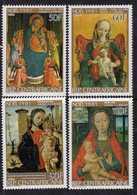 Centrafricaine N ° 487 / 90 XX : Noël Tableaux : Vierge à L' Enfant, La Série Des 4 Valeurs Sans Charnière TB - Centrafricaine (République)