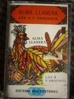 ALMA LLANERA: LOS 4 Y ORQUESTA / CassetteAudio-K7 Venezuela Vallison 103 - Audio Tapes