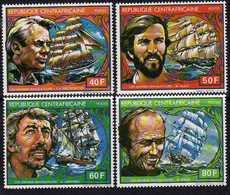 Centrafricaine N ° 495 / 98 XX : Les Grands Navigateurs, La Série Des 4 Valeurs Sans Charnière TB - Centrafricaine (République)