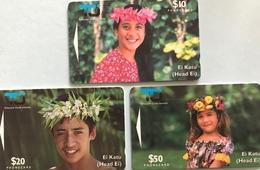"""ILES COOK  -  Phonecards  -  Série 3 Cards """" Ei Katu """" - TCI - Cook Islands"""