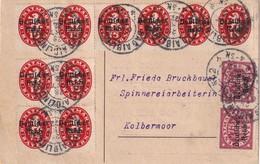 ALLEMAGNE 1922 CARTE DE BAD AIBLING AVEC TIMBRES DE SERVICE - Service