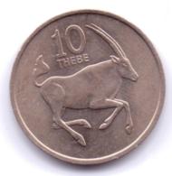 BOTSWANA 1976: 10 Thebe, KM 5 - Botswana