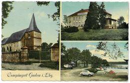 CPSM GUDOW - Campingort Gudow - Kirche - Schloss - Campingplatz - Non Classés