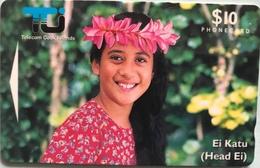 """ILES COOK  -  Phonecard  -  """" Ei Katu """" -  $10  -  TCI - Cook Islands"""