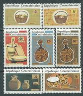 Centrafricaine N ° 524 / 30 XX : Objets Artisanaux, La Série Des 7 Valeurs Sans Charnière TB - Centrafricaine (République)
