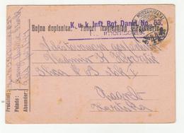 Hungary WWI 3 Feldpost Postal Cards Posted 1916 K.u.k. Inf. Rgmt. Dankl No. 53 FP44 To Zagreb B200215 - Croatia