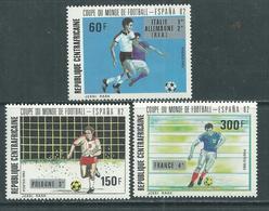 """Centrafricaine N ° 531 / 33 XX : """"Espana'82"""", Coupe Du Monde De Football, La Série Des 3 Valeurs Sans Charnière TB - Centrafricaine (République)"""