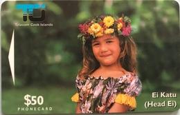 """ILES COOK  -  Phonecard  -  """" Ei Katu """" -  $20  -  TCI - Cook Islands"""