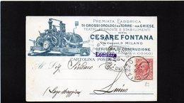 CG10 - Italia - Cartolina Postale Da Lomazzo 6/10/1907 Per Luino - Vari