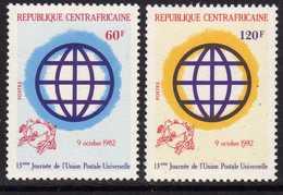 Centrafricaine N ° 534 / 35 XX :13è Journée De L' U. P. U. , Les 2 Valeurs Sans Charnière TB - Centrafricaine (République)
