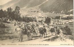 74 CHAMONIX MONT BLANC CARAVANE EN ROUTE POUR LE GLACIER DE LA MER DE GLACE  EDITEUR GILETTA 8545 - Chamonix-Mont-Blanc