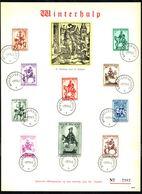 Belgique - C.O.B. N° 583/592 - Feuillet Souvenir - Winterhulpuitgifte N° 3 - Secours D'hiver N° 3. - Feuillets