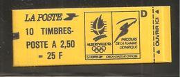 France, 2715-C4B, Daté, Carnet Neuf, Non Ouvert, TTB, Conf. 8, Albertville 92, Carnet Marianne De Briat - Usage Courant