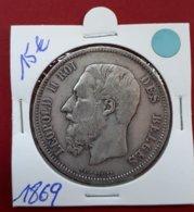 5 Francs 1869 Leopold II - 09. 5 Franchi