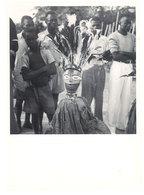 Photo Afrique 12,8 X 17,8 Cms, AEF, Moyen Congo, Fort Roussel, Masque De Danse - Afrique
