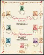"Belgique - C.O.B. N° 593/600 - Feuillet Souvenir - Antituberculeux - ""Les Savants / Vlaamse Geleerden"". - Feuillets"
