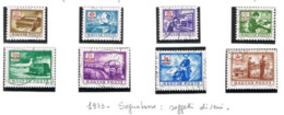 UNGHERIA (HUNGARY) - SG D2847.2854  - 1973  POSTAL DUE: POSTAL OPERATIONS (COMPLET SET OF 8)       -  USED - RIF.CP - Segnatasse