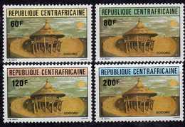 Centrafricaine N ° 544 / 47 XX : Grenier Ancestral, La Série Des 4 Valeurs Sans Charnière TB - Centrafricaine (République)