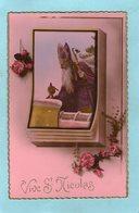 Vive St- NICOLAS  - Poupée- (ARS SERIE 585) - - Saint-Nicholas Day