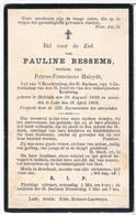 Dp. Bessems Pauline. Wed. Haleydt Petrus. ° Hofstade 1829 † Lede 1909 - Religión & Esoterismo
