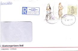 CIPRUS REGISTRED MAIL COVER 2000    (FEB20960) - Storia Postale
