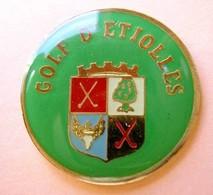 C206 Pin's Village Etiolles Golf ESSONNE écusson Blason Achat Immédiat - Golf