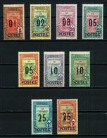 Túnez (Francés) Nº 110/19* (falta Nº 118) Cat.65€ - Unused Stamps