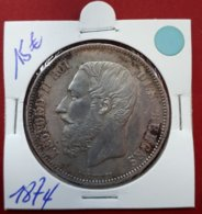 5 Francs 1874 Leopold II - 09. 5 Franchi