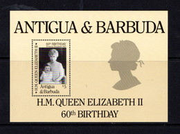 ANTIGUA    1986    60th  Birthday  Of  Queen  Elizabeth  II      Sheetlet    MNH - Antigua And Barbuda (1981-...)