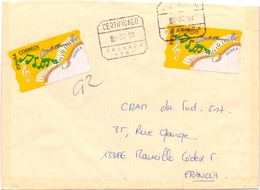 GRANADA ESPANA REGISTRED MAIL COVER MUSIC CORREOS     (FEB20966) - 1991-00 Storia Postale