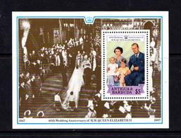 ANTIGUA    1988   Royal  Ruby  Wedding      Sheetlet    MNH - Antigua And Barbuda (1981-...)