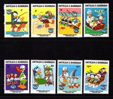 ANTIGUA    1984   Christmas  50th  Birthday  Of  Donald  Duck      Part  Set  Of  8    MNH - Antigua And Barbuda (1981-...)