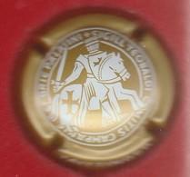 Capsule Champagne Taittinger N° 116x Or Mat Et Blanc, 32 Mm - Taittinger