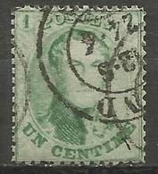 Belgique - Médaillons Dentelés - N°13B Oblitération DC GAND - 1863-1864 Medaillons (13/16)