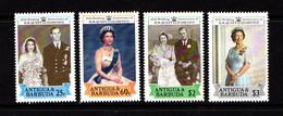ANTIGUA    1988   Royal  Ruby  Wedding     Set  Of  4    MNH - Antigua And Barbuda (1981-...)