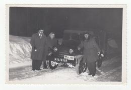 Yugoslavia 1962 (Milicija) Police Car In Snow B200215 - Cars
