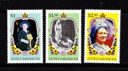 ANTIGUA    1985   Queeb  Elizabeth  The  Queen  Mother     Set  Of  3    MNH - Antigua And Barbuda (1981-...)