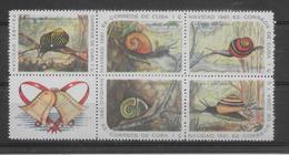 Thème Animaux - Escargots - Cuba - Neuf ** Sans Charnière - TB - Reptiles & Batraciens