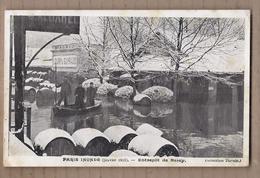 CPA 75 - PARIS - Paris Inondé ( Janvier 1910 ) - Entrepôt De Bercy - TB PLAN Inondation Animation Sous La Neige TB Verso - Arrondissement: 12