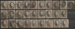 Belgique - Médaillons Dentelés - N°14-14A-14B - 28 Exemplaires - 1863-1864 Medaillons (13/16)