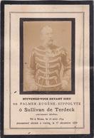 MONS IXELLES OVERIJSE Palmer O SULLIVAN De TERDECK 1834-1894 Souvernir Mortuaire Doodsprentje - Décès