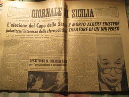 Giornale Di Sicilia / Morte Einstein 1955 - Television