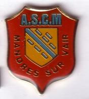 VF89 Pin's Village ASCM MANDRES SUR VAIR Vosges écusson Achat Immédiat - Villes