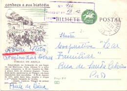 PORTUGAL BILHETE POSTAL 1957 CONBECA A SUA BISTORIA  (FEB20974) - Interi Postali