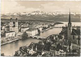 V4129 Zurich Und Die Alpen / Viaggiata 1953 - ZH Zurich